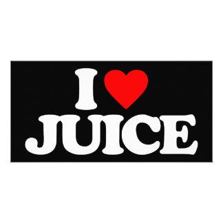 I LOVE JUICE PHOTO GREETING CARD