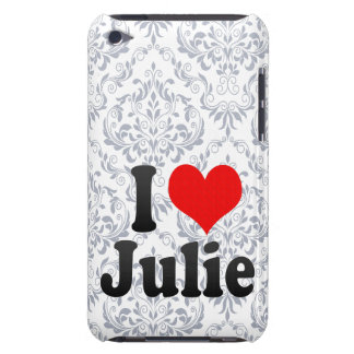 I love Julie Barely There iPod Cases