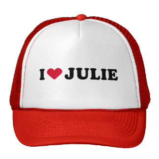 I LOVE JULIE MESH HAT