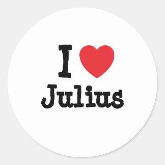 I love Julius heart custom personalized Sticker