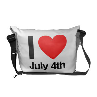 i love july 4th courier bags