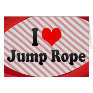 I love Jump Rope Note Card