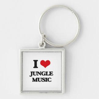 I Love JUNGLE MUSIC Keychain