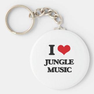 I Love JUNGLE MUSIC Keychains