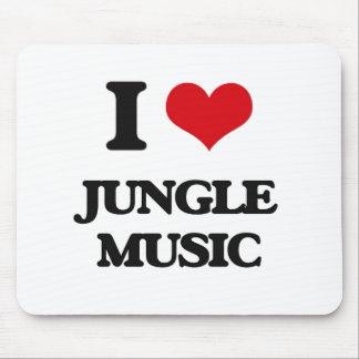 I Love JUNGLE MUSIC Mousepads