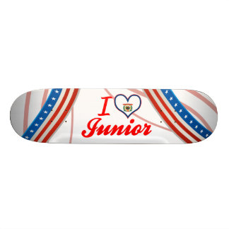 I Love Junior, West Virginia 19.7 Cm Skateboard Deck