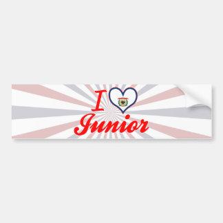 I Love Junior West Virginia Bumper Stickers