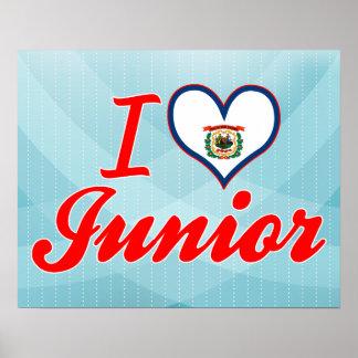 I Love Junior West Virginia Print