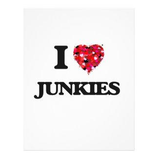 I Love Junkies 21.5 Cm X 28 Cm Flyer