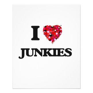 I Love Junkies 11.5 Cm X 14 Cm Flyer