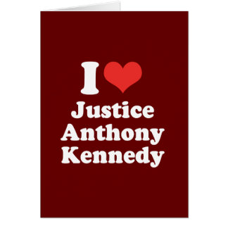 I LOVE JUSTICE ANTHONY KENN - .png Greeting Card