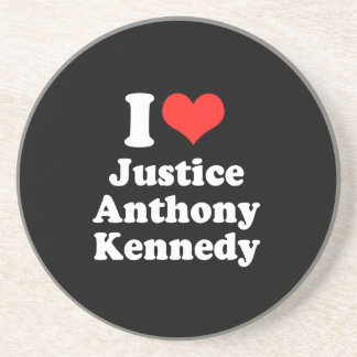 I LOVE JUSTICE ANTHONY KENN png Drink Coasters