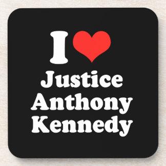 I LOVE JUSTICE ANTHONY KENN png Drink Coaster