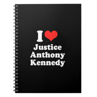 I LOVE JUSTICE ANTHONY KENN png Notebooks