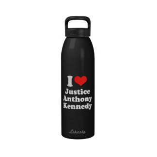 I LOVE JUSTICE ANTHONY KENN png Reusable Water Bottles