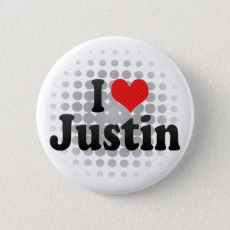 I Love Justin 6 Cm Round Badge