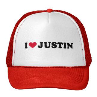 I LOVE JUSTIN HAT