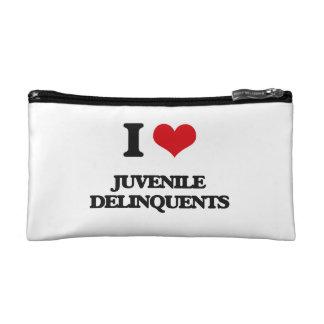 I Love Juvenile Delinquents Cosmetic Bag