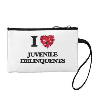 I Love Juvenile Delinquents Coin Purses