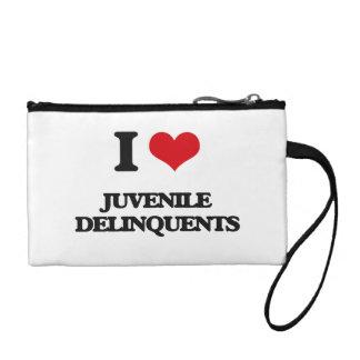 I Love Juvenile Delinquents Coin Wallet