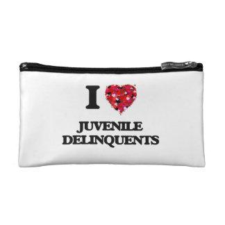 I Love Juvenile Delinquents Makeup Bag