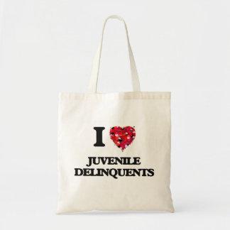 I Love Juvenile Delinquents Budget Tote Bag