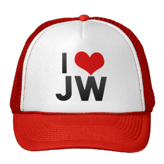 I Love JW Trucker Hat