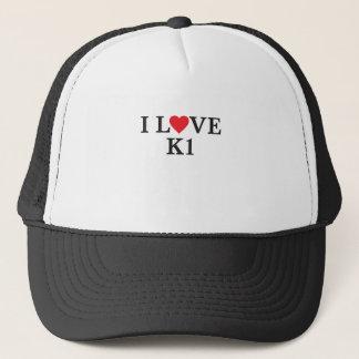 I Love K1 Trucker Hat