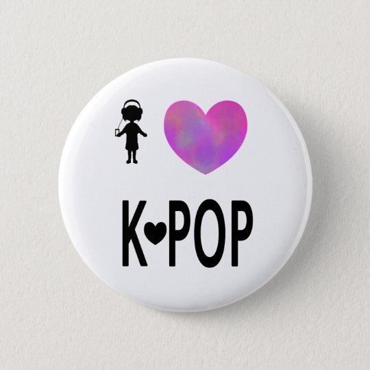 I love K-pop 6 Cm Round Badge