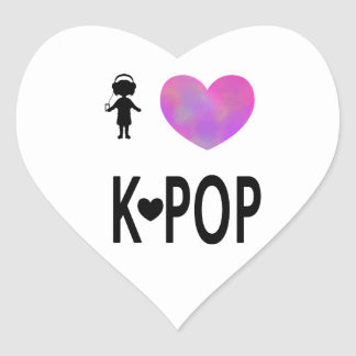 I love K-pop Heart Sticker