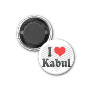 I Love Kabul, Afghanistan 3 Cm Round Magnet