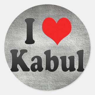 I Love Kabul, Afghanistan Round Sticker