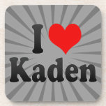 I love Kaden Drink Coasters