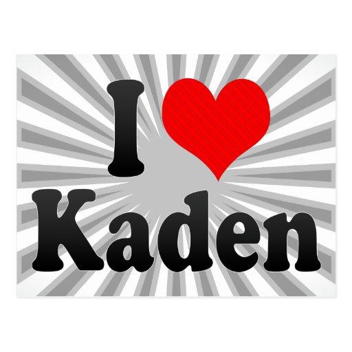 I love Kaden Postcard
