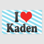 I love Kaden Rectangle Sticker