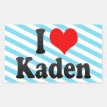 I love Kaden Rectangular Sticker