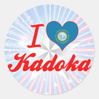 I Love Kadoka, South Dakota Stickers