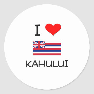 I Love KAHULUI Hawaii Sticker
