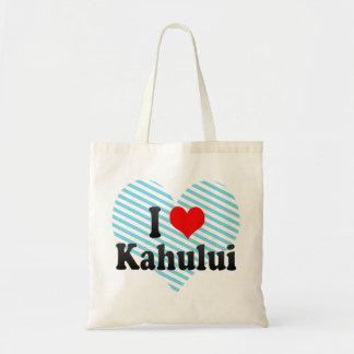I Love Kahului, United States Budget Tote Bag