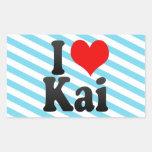 I love Kai Rectangle Sticker