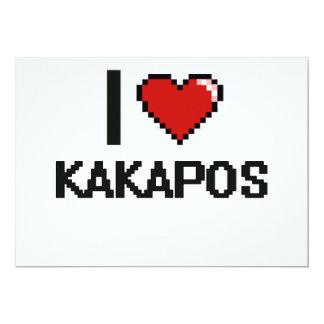 I love Kakapos Digital Design 13 Cm X 18 Cm Invitation Card