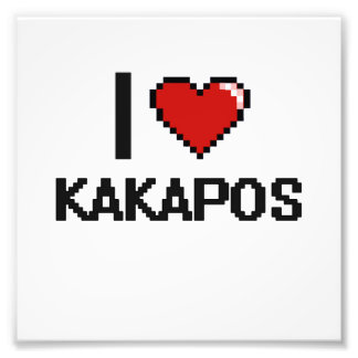 I love Kakapos Digital Design Art Photo