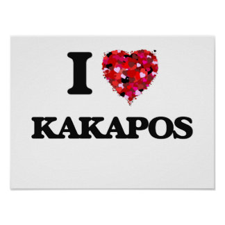 I love Kakapos Poster