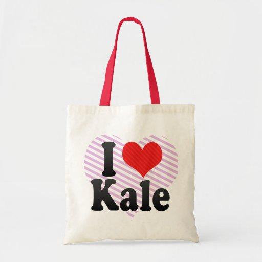 I Love Kale Canvas Bag