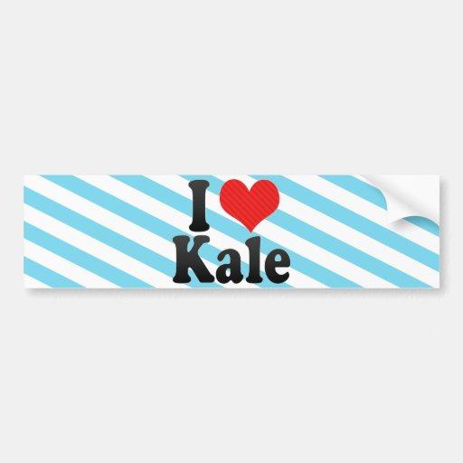 I Love Kale Bumper Sticker