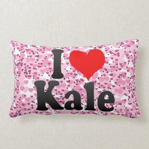 I love Kale Throw Pillows