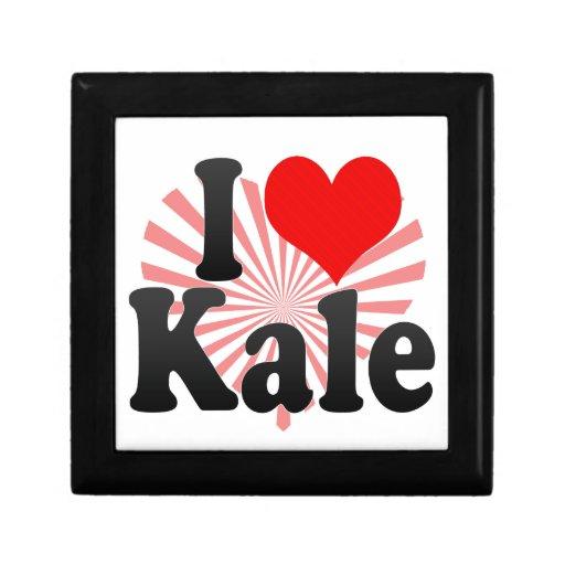I love Kale Trinket Box