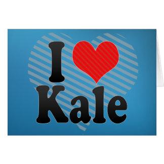 I Love Kale Greeting Card