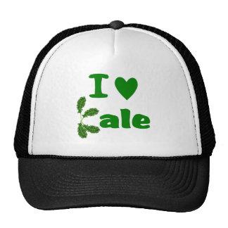 I Love Kale (I Heart Kale) Vegetable/Gardener Trucker Hat