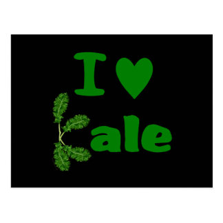 I Love Kale (I Heart Kale) Vegetable/Gardener Postcard